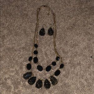 Black and gold jewelry